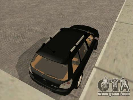 Mitsubishi Outlander for GTA San Andreas left view