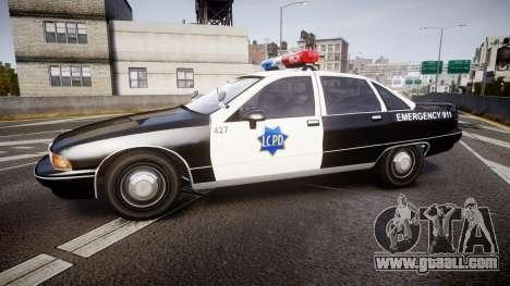 Chevrolet Caprice 1990 LCPD [ELS] Patrol for GTA 4 left view