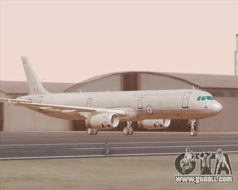 Airbus A321-200 Royal New Zealand Air Force for GTA San Andreas left view