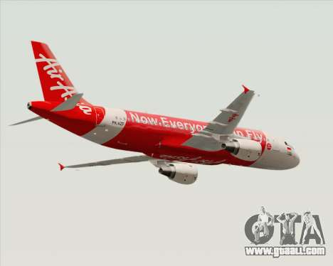 Airbus A320-200 Indonesia AirAsia for GTA San Andreas right view