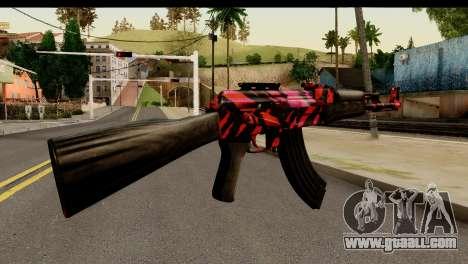 Red Tiger AK47 for GTA San Andreas second screenshot