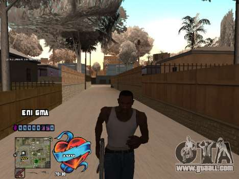 C-HUD Heart for GTA San Andreas fifth screenshot