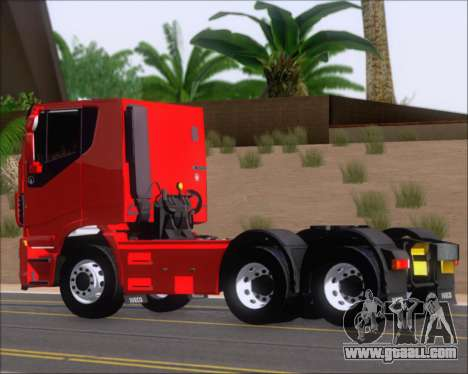 Iveco Stralis HiWay 6x4 for GTA San Andreas back left view