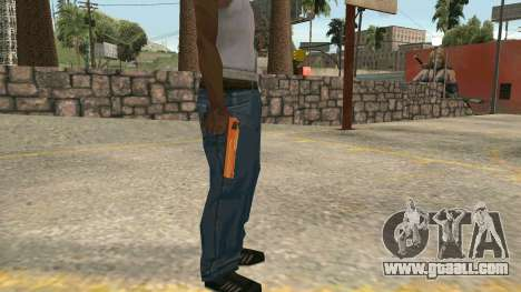 Orange Desert Eagle for GTA San Andreas second screenshot