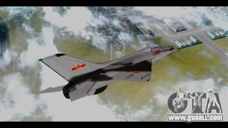 MIG-21 China Air Force for GTA San Andreas left view