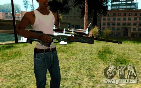 Blue Line Sniper for GTA San Andreas second screenshot