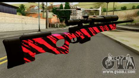 Red Tiger Sniper Rifle for GTA San Andreas second screenshot