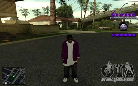 C-HUD Diamond Gangster for GTA San Andreas