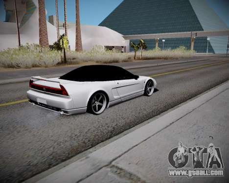 Honda NSX 2015 for GTA San Andreas back view
