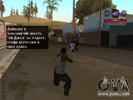 C-HUD by Granto for GTA San Andreas second screenshot