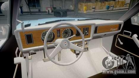 Ford Fairmont 1978 Police v1.1 for GTA 4 back view