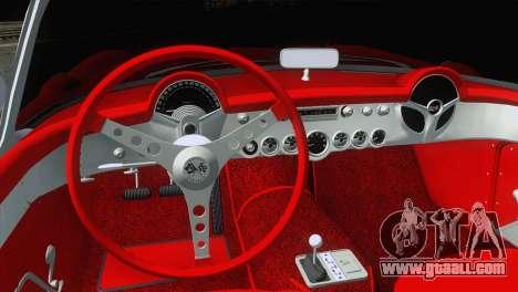 Chevrolet Corvette C1 1957 for GTA San Andreas back left view