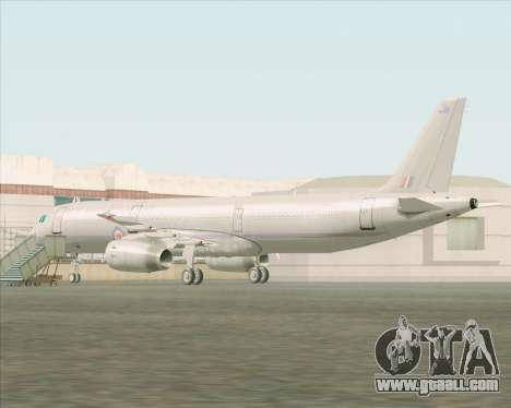 Airbus A321-200 Royal New Zealand Air Force for GTA San Andreas back left view
