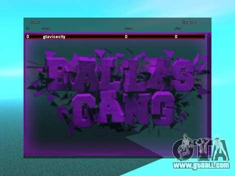 SampGUI Ballas Gang for GTA San Andreas