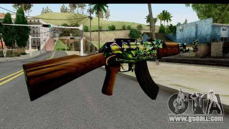 Grafiti AK47 for GTA San Andreas second screenshot