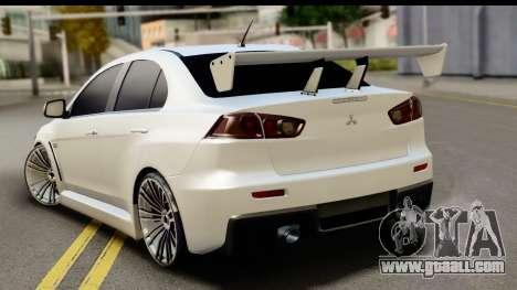 Mitsubishi Lancer X RE-Racing Edition for GTA San Andreas left view