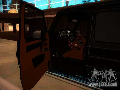 Mercedes-Benz G500 Bluetec 2014 for GTA San Andreas inner view