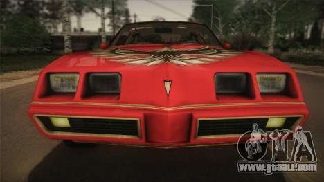 Pontiac Turbo Trans Am 1980 Bandit Edition for GTA San Andreas back view