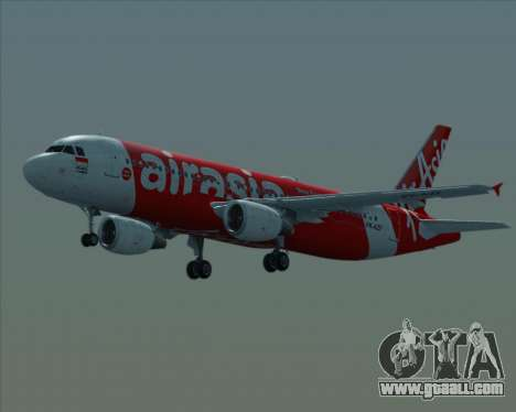 Airbus A320-200 Indonesia AirAsia for GTA San Andreas upper view