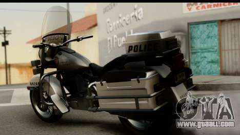 Police Bike GTA 5 for GTA San Andreas left view