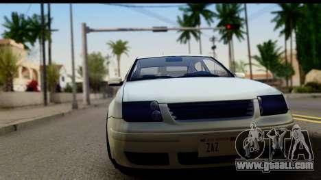 Volkwagen Jetta Mk4 for GTA San Andreas back left view