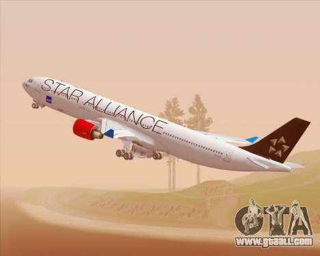Airbus A330-300 SAS Star Alliance Livery for GTA San Andreas inner view