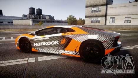 Lamborghini Aventador 2012 [EPM] Hankook Orange for GTA 4 left view