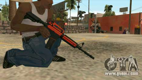 Orange M4A1 for GTA San Andreas sixth screenshot