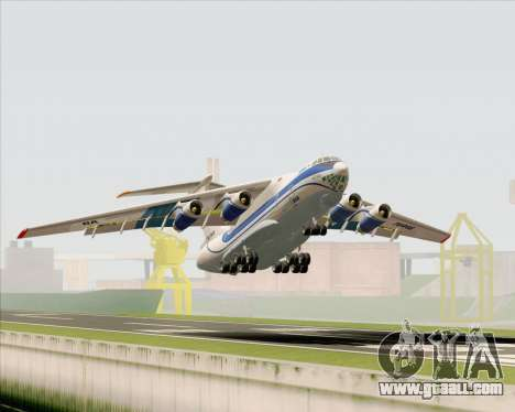IL-76TD Gazprom Avia for GTA San Andreas wheels