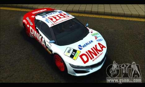 Dinka Jester Racear (GTA V) for GTA San Andreas back view