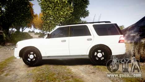 Ford Expedition West Virginia State Police [ELS] for GTA 4 left view