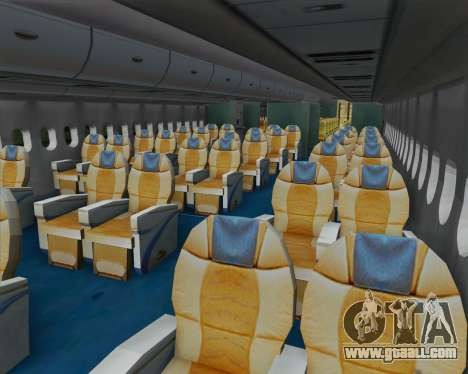 Airbus A380-800 F-WWDD Not Painted for GTA San Andreas inner view