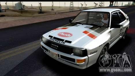 Audi Sport Quattro B2 (Typ 85Q) 1983 [HQLM] for GTA San Andreas inner view