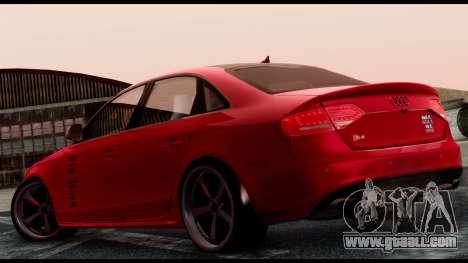 Audi S4 2010 Blacktop for GTA San Andreas left view