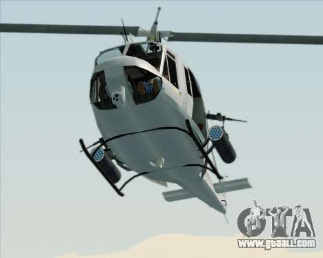 Bell UH-1N Huey USMC for GTA San Andreas inner view