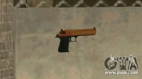 Orange Desert Eagle for GTA San Andreas