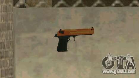 Orange Desert Eagle for GTA San Andreas