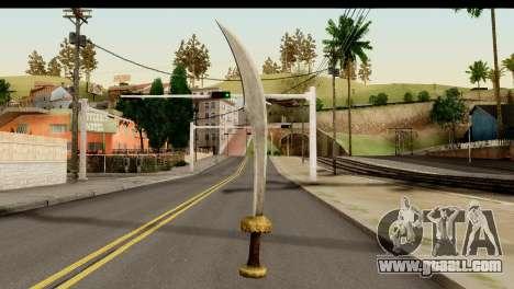 Scimitar Sword From Skyrim for GTA San Andreas second screenshot