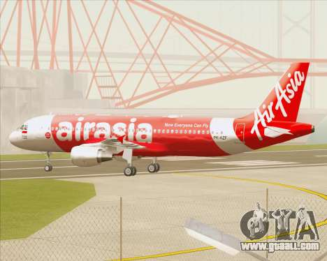 Airbus A320-200 Indonesia AirAsia for GTA San Andreas inner view