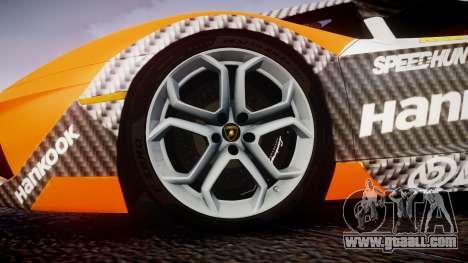 Lamborghini Aventador 2012 [EPM] Hankook Orange for GTA 4 back view
