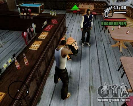 Digital indicator life opponents for GTA San Andreas forth screenshot