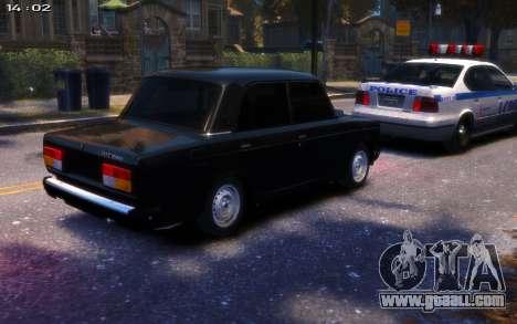 VAZ 2107 R13 for GTA 4 back left view