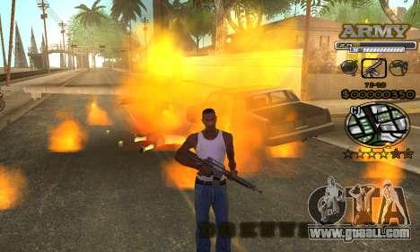 C-HUD Army for GTA San Andreas sixth screenshot
