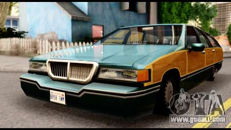 Elegant Station Wagon with Wood Panels for GTA San Andreas right view