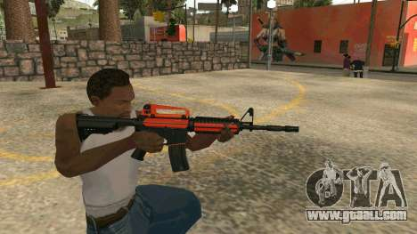 Orange M4A1 for GTA San Andreas fifth screenshot