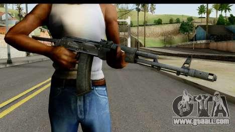 Plastic AKS-74 for GTA San Andreas third screenshot