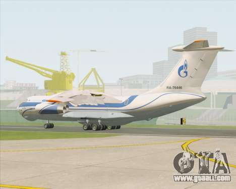 IL-76TD Gazprom Avia for GTA San Andreas right view