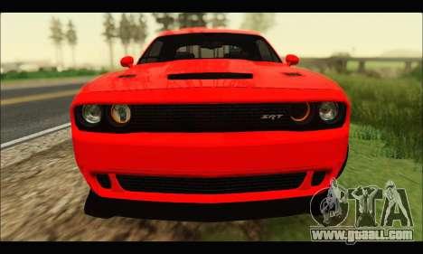 Dodge Challenger SRT HELLCAT 2015 for GTA San Andreas left view