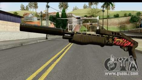 Red Tiger Combat Shotgun for GTA San Andreas