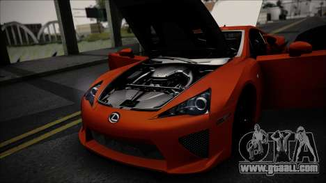 Lexus LFA for GTA San Andreas back view
